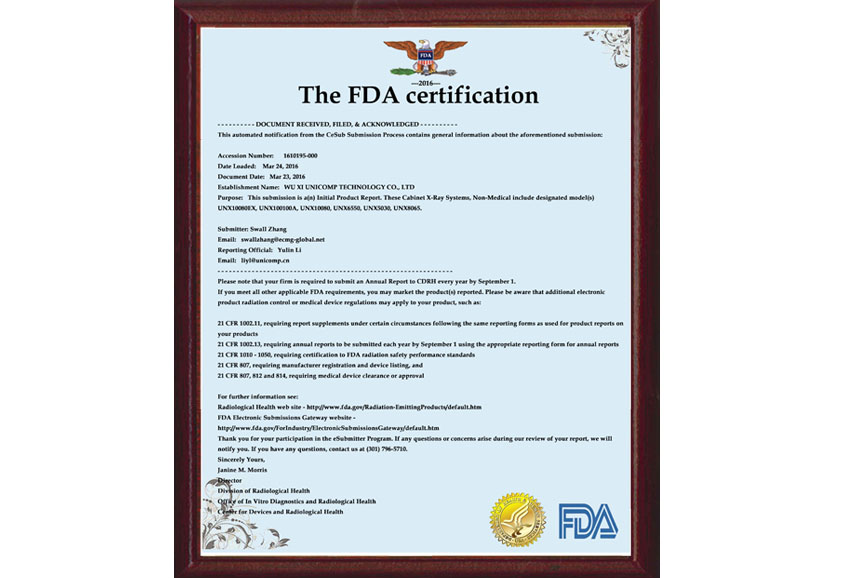 Security Certificate FDA Certificate