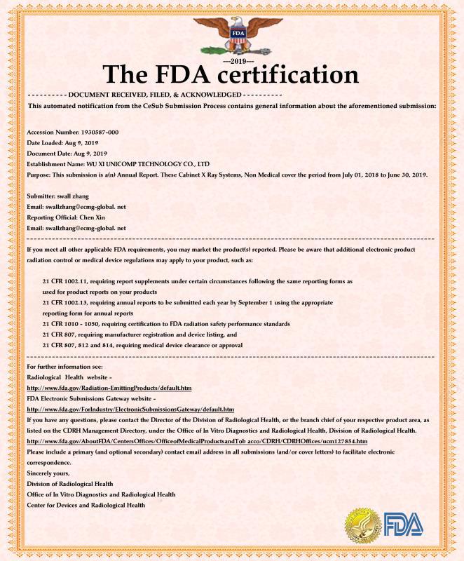 FDA证书